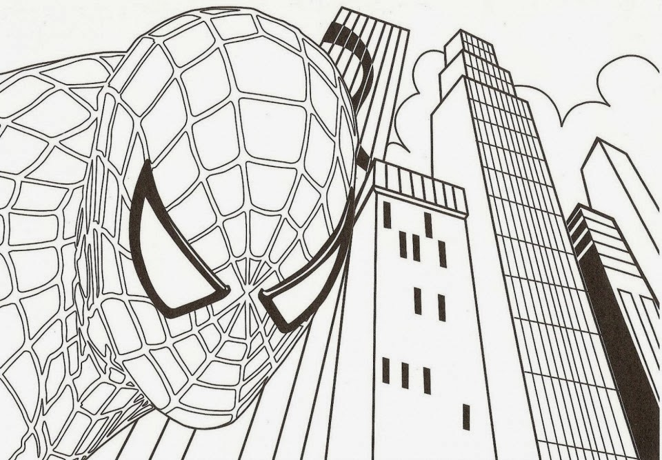 Dibujos para colorear: Dibujo para pintar de Spiderman