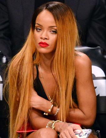 Rihanna çok uzun saç kesim modeli