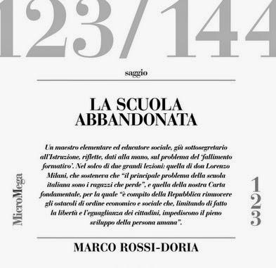 Un saggio sulla dispersione scolastica su Micromega n. 6/2014