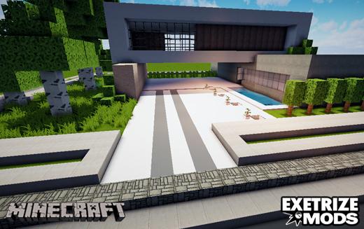 Minecraft mapa com casa moderna de luxo ext mods for Casa moderna bella faccia