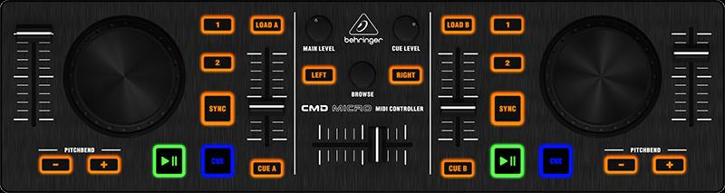 Midi Deck Suite 2-deck Midi dj Controller