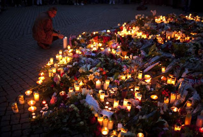 commemorate the victims of Oslo bombing/shooting