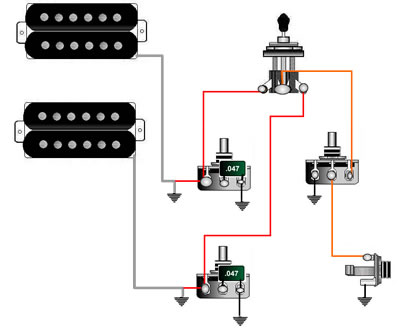 Ochoey Productions  Contoh    Wiring    Gitar   BASS