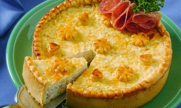 #receita de #torta de #ricota e #salame
