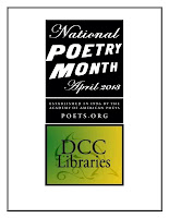 National Poetry Month and DCC Libraries Logos