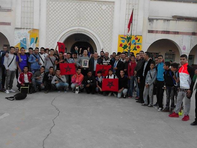ثانوية وادي المخازن التأهيلية تحتفل بالذكرى الأربعين للمسيرة الخضراء