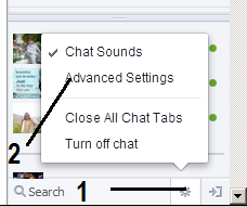 for facebook chatting setting