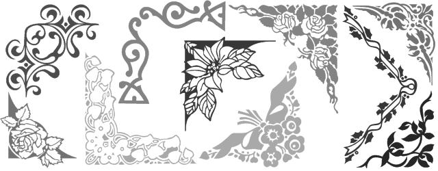 Decorative border font shreel53