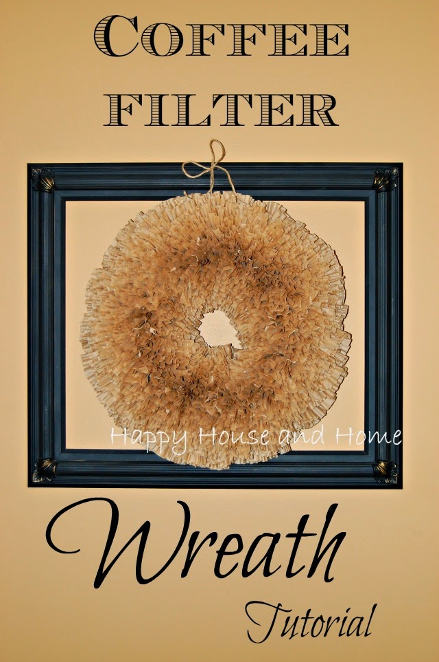 coffee filter craft, coffee filters, coffee filter wreath, wreath