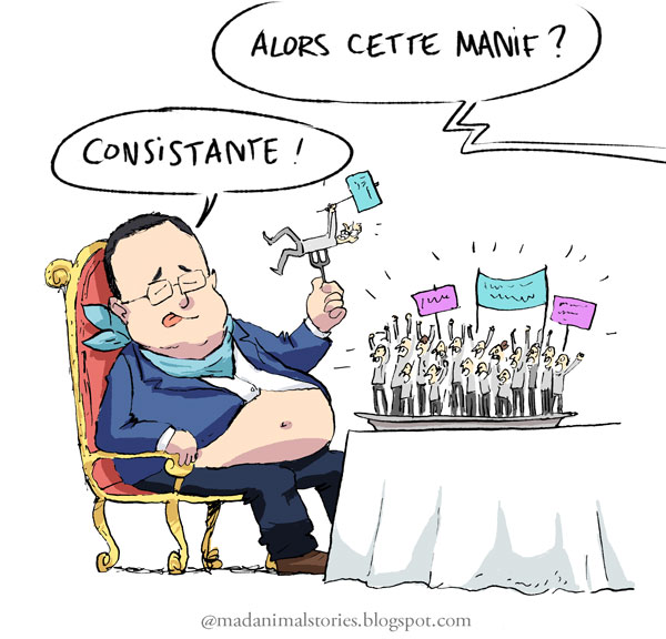 manifestation contre mariage gay consistante