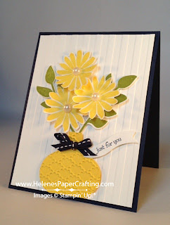 Yellow flower vase card