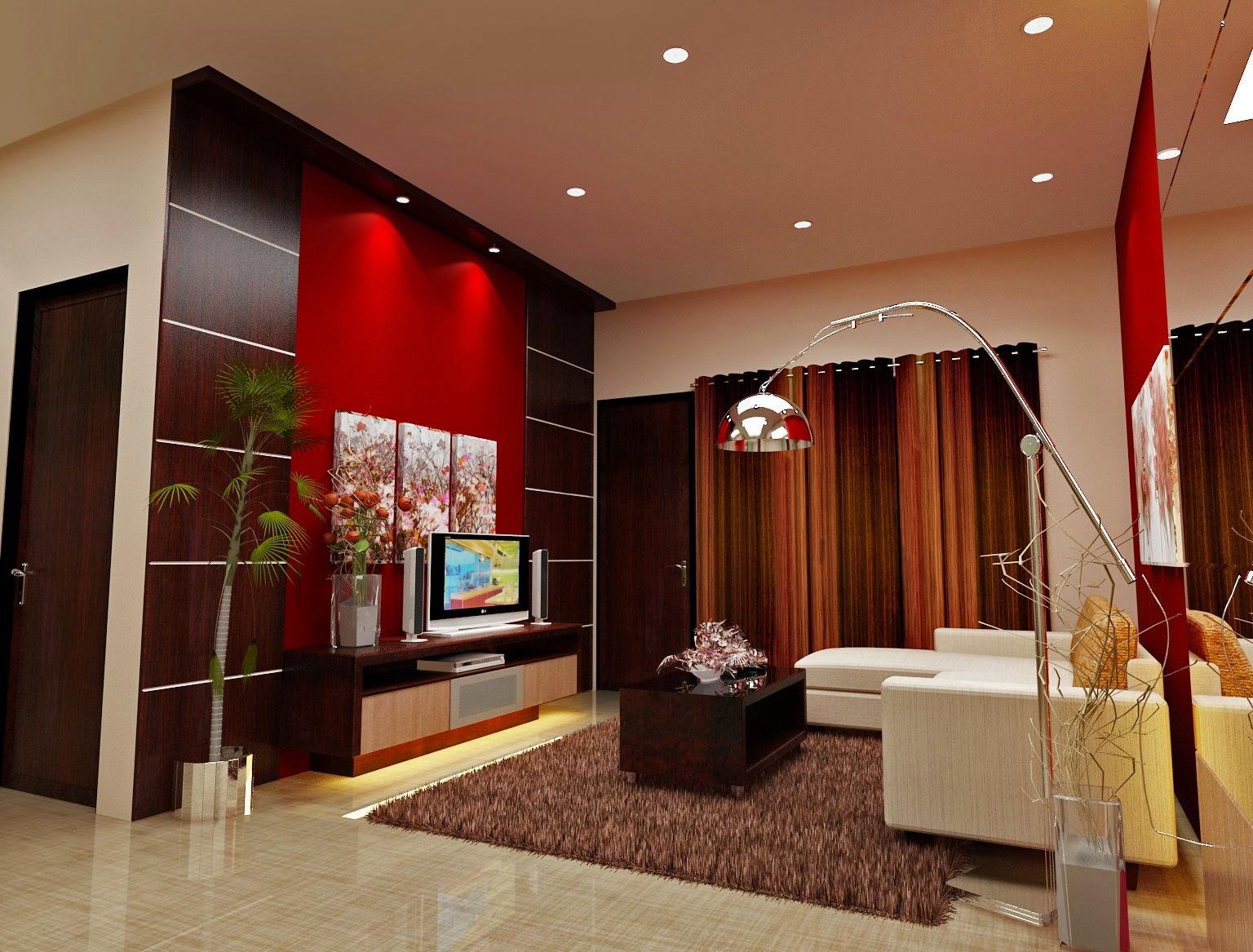 karpet lantai ruang keluarga model rumah modern