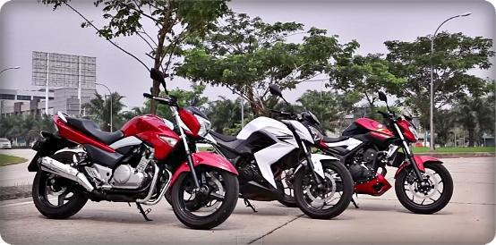 Komparasi Yamaha MT-25, Kawasaki Z250 dan Suzuki Inazuma !