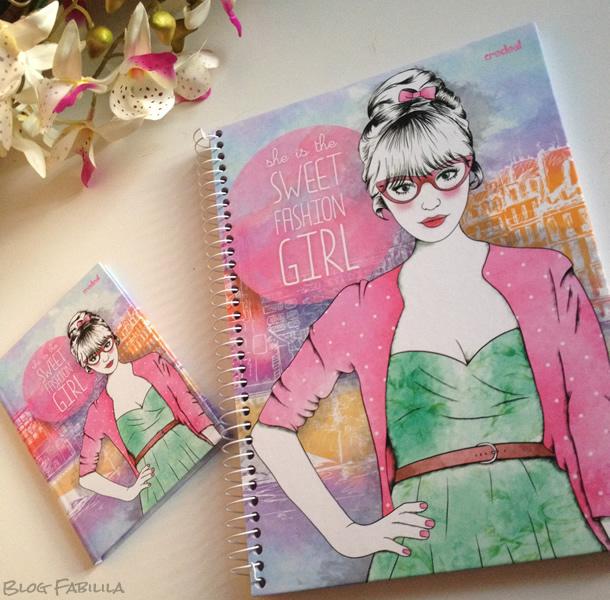 Caderno Feminino Moda Credeal