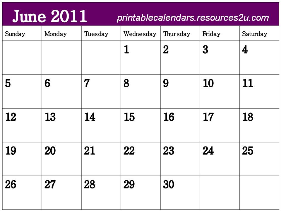 "June Calendar Header : Search results for ""free printable monthly calendar"