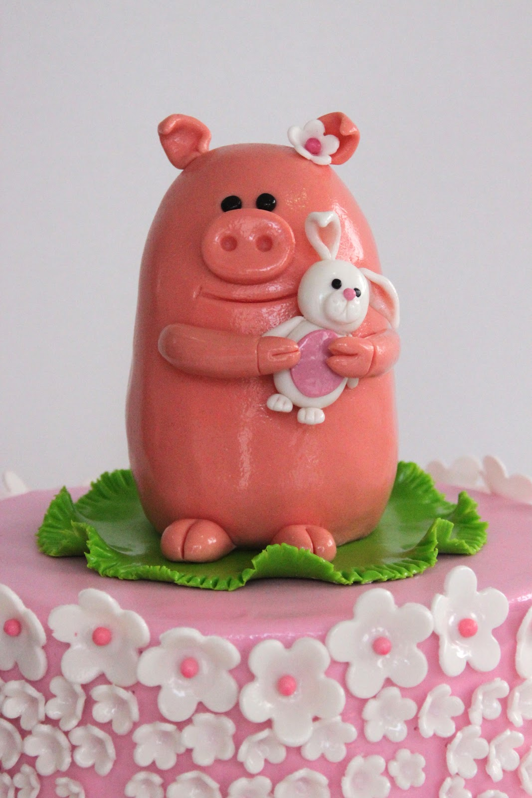 Celebrate With Cake Baby Shower Pig Topper Cake