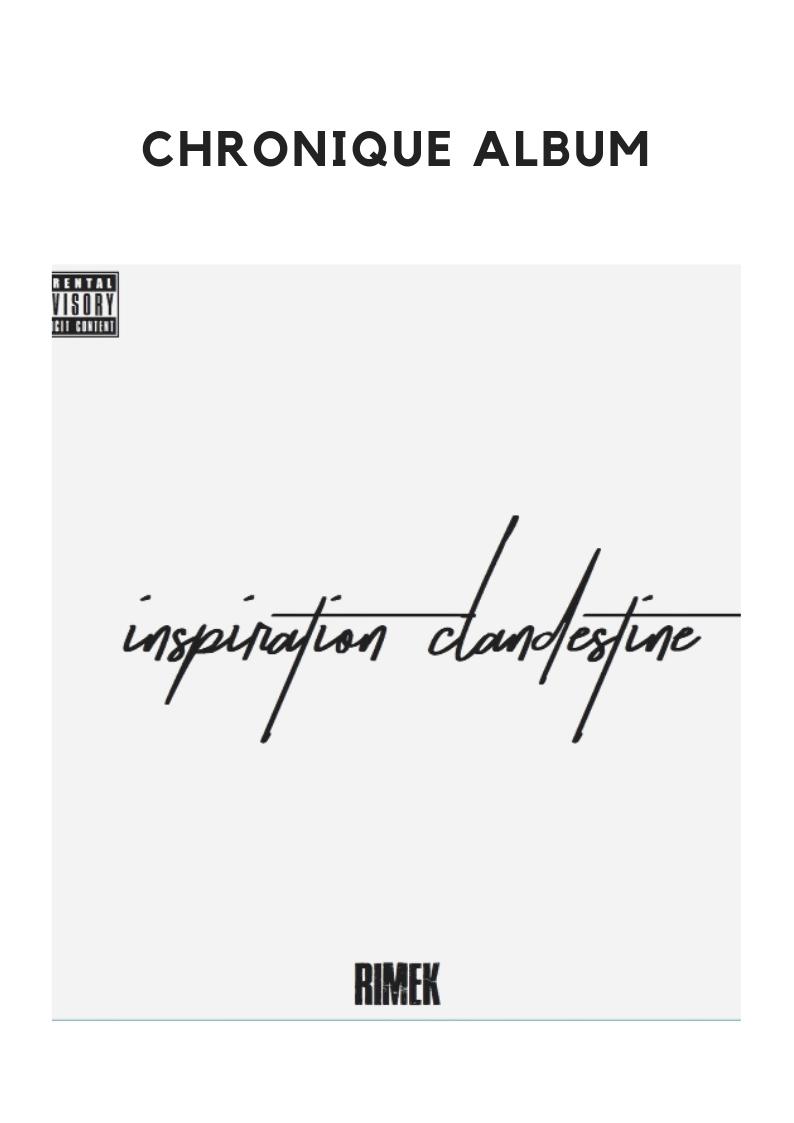 """Chronique album """" Inspiration clandestine """""""