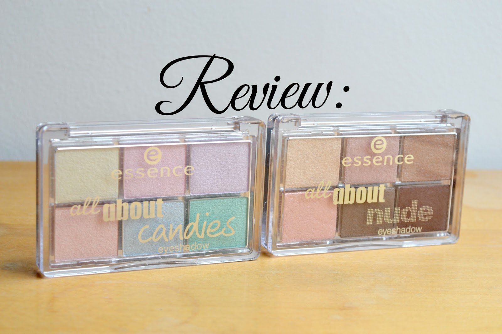 Essence All About Candies and All About Nude eyeshadow palettes