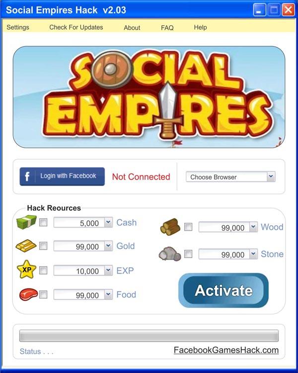 hack social empires