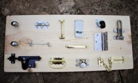 DIY Lock, Hinge, Latch Board for Toddlers
