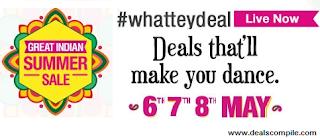 Amazon Great Indian Summer Sale 2015 between 6 – 8 May