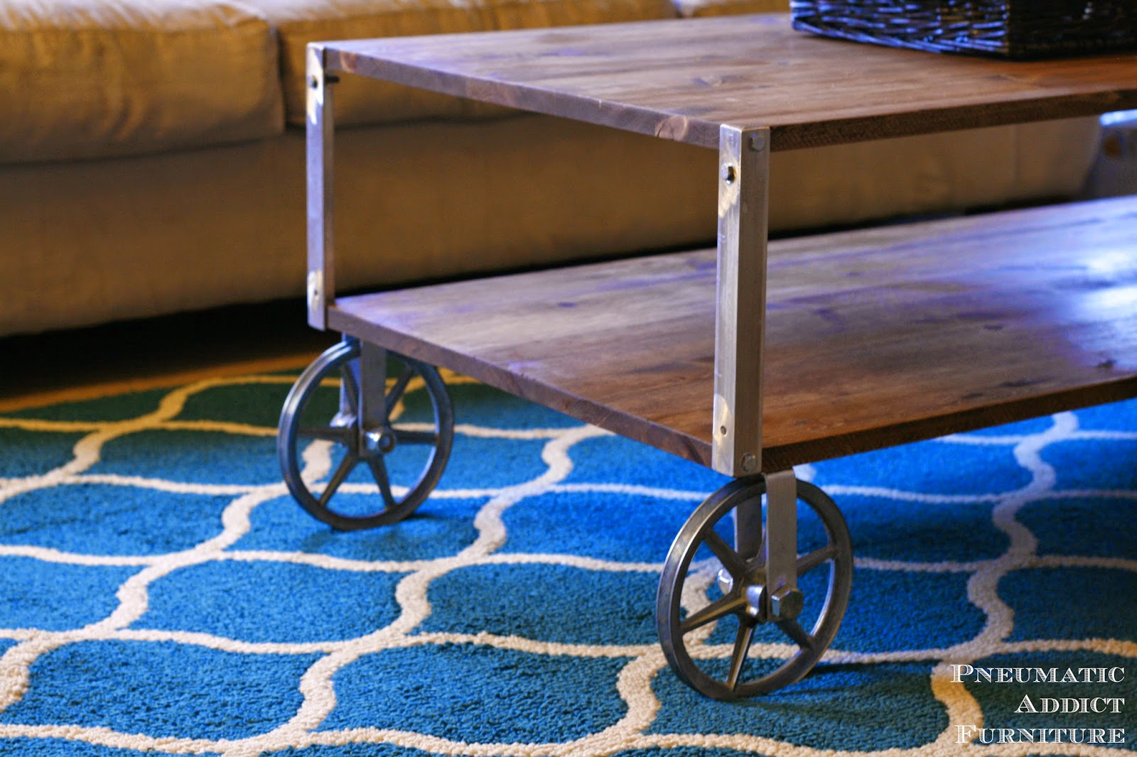 Pneumatic addict easy industrial coffee table no welding geotapseo Image collections