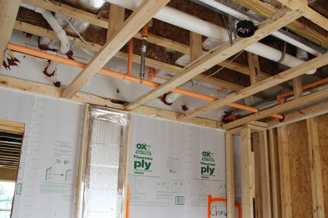Fire safety sprinkler system in Ryan Homes Matisse and Picasso units.
