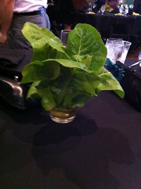 The wedding was very nice The centerpieces at the reception were lettuce