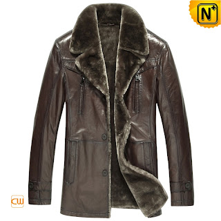fur lined leather coat