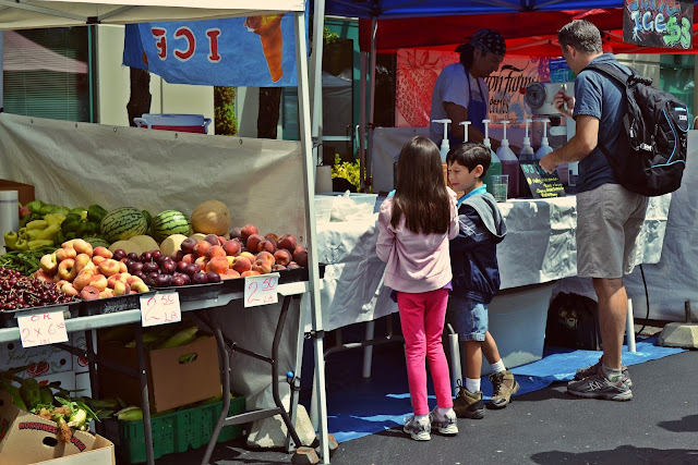 summer, seattle, fruit, farmer's market, lifestyle, snowcones, fremont