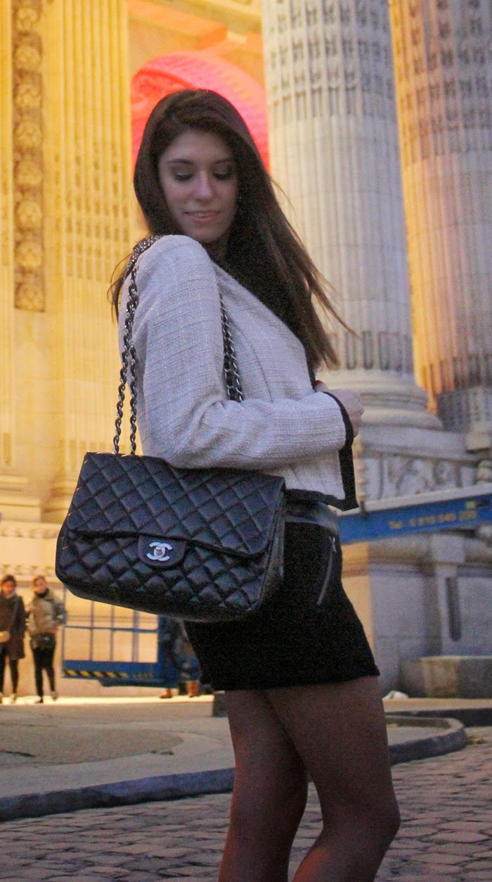 fashion, fashion blog, fashion blogger, grand palais, chanel, the little black jacket, karl lagerfeld, Paris, streetstyle, chanel 3.55