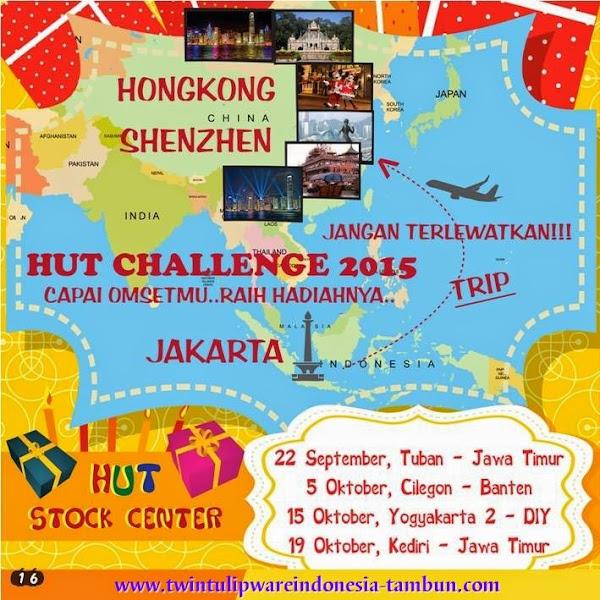 HUT Challenge 2015, Hongkong Shenzhen & Info HUT Tulipware 2014 : Tuban, Cilegon, Yogyakarta, Kediri