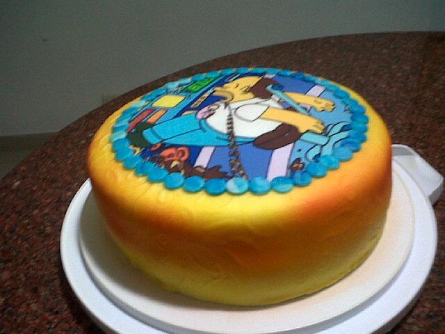 Tortas y Gelatina: Torta los simpson