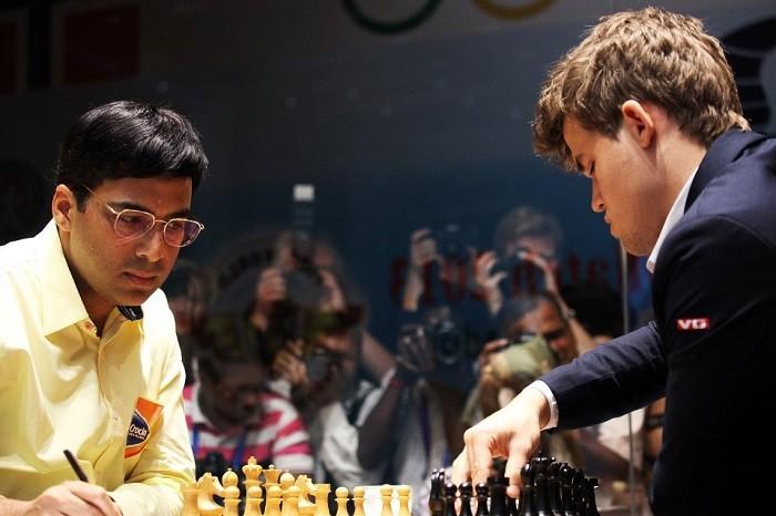 A suivre tout particulièrement, le duel entre l'ex-champion du monde indien Viswanathan Anand et le champion du monde d'échecs norvégien Magnus Carlsen © Chess & Strategy