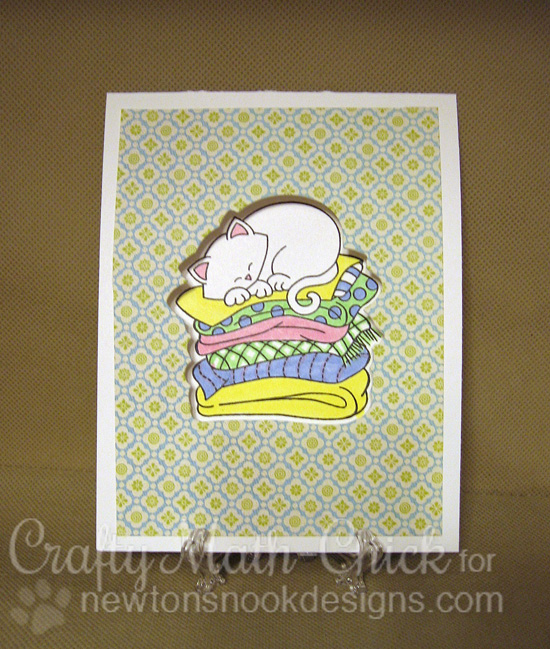 Dreaming Cat Card by Crafty Math-chick | Newton's Naptime Stamp set by Newton's Nook designs