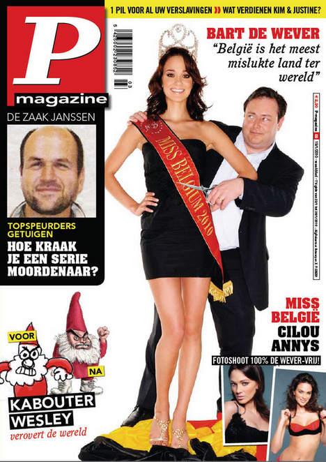 Cilou Annys en Une de P magazine