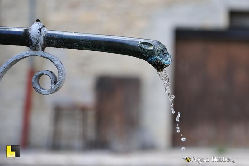 détail de la fontaine de valdrome photo pascal blachier