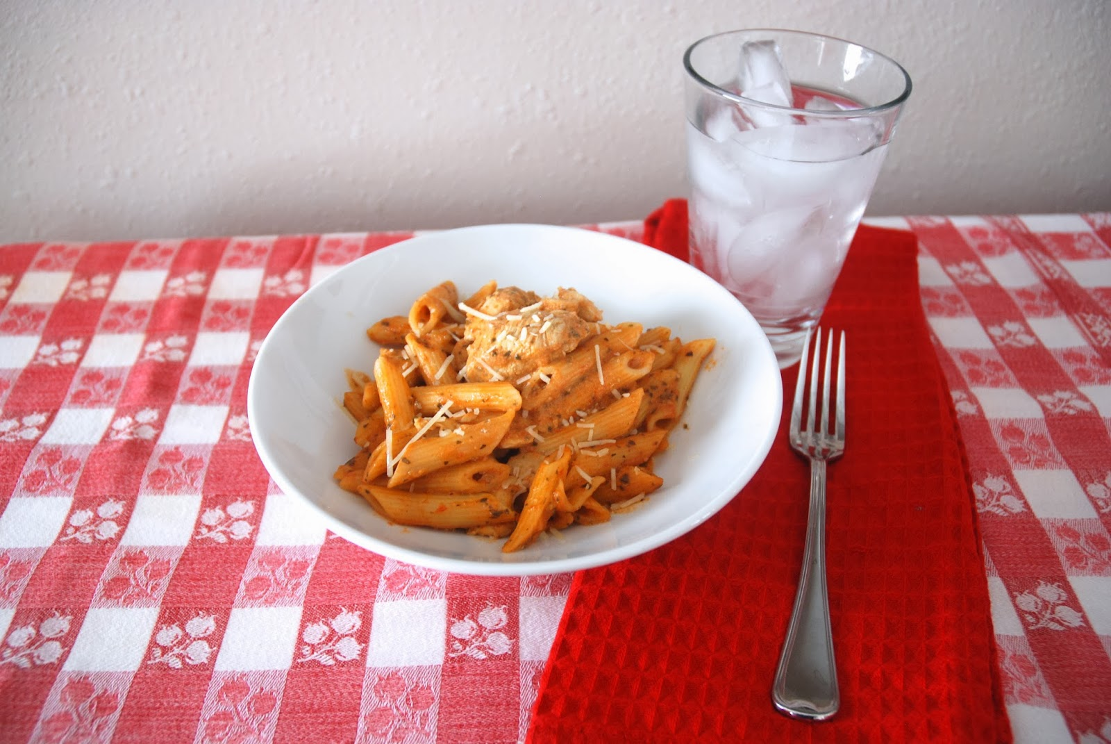 Creamy Pesto & Tomato Penne Pasta with Chicken
