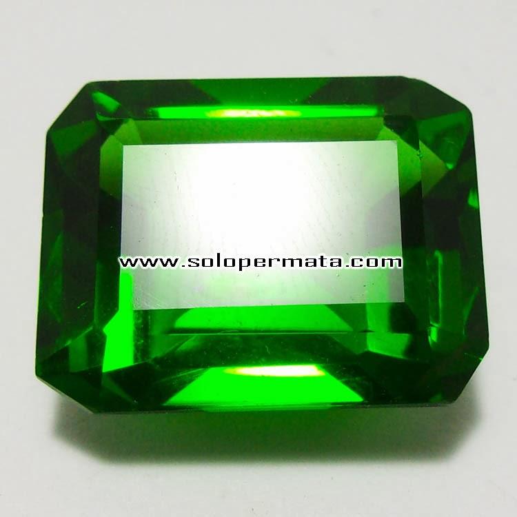 Batu Permata Green Tektite - Kode 9A03 + Memo