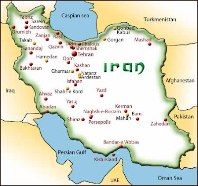 Iran Map political Regional