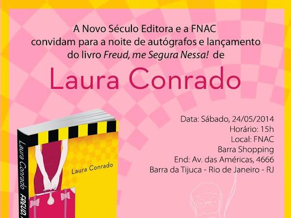 Lançamento com sessão de autógrafos de Freud, me Segura Nessa! com Laura Conrado no Rio de Janeiro
