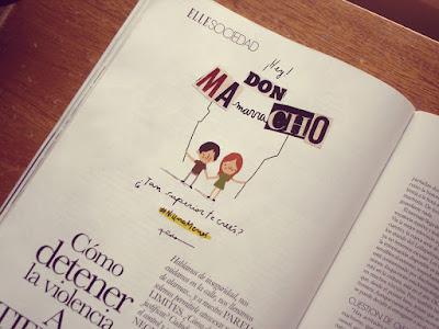 Ilustración revista Elle