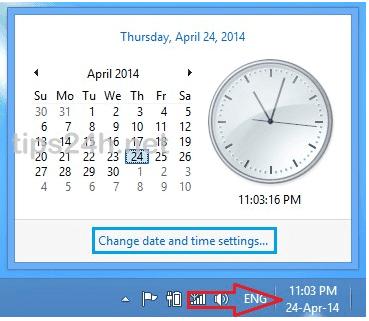 Cách thay đổi ngày giờ trên Windows 8/8.1