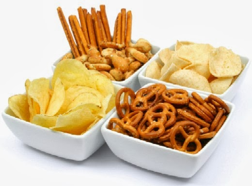 Pretzels and Potato Chips