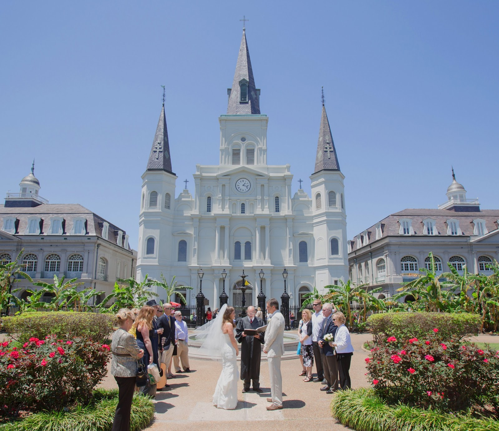New orleans weddings wedding in jackson square new orleans