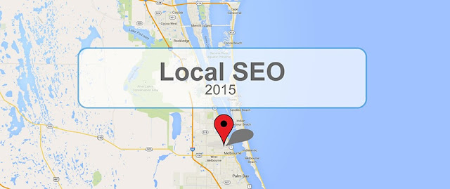 "A Google Map snapshot with the text ""Local SEO 2015."""