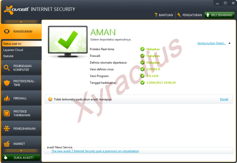 Avast Internet Security 2012 Full Serial Number/Lisense Key