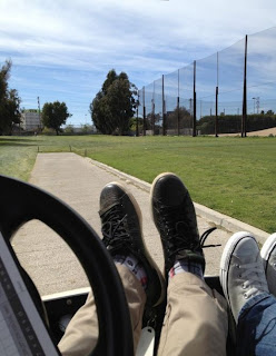 Greyson Chance feet and Socks on the golf course