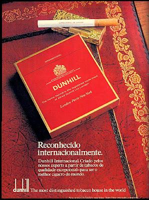 propaganda cigarros Dunhill - 1974; anos 70; década de 70; história anos 70; oswaldo hernandez;