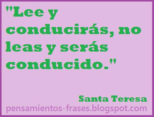 frases de Santa Teresa